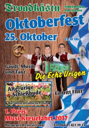 Oktoberfest Troadkastn