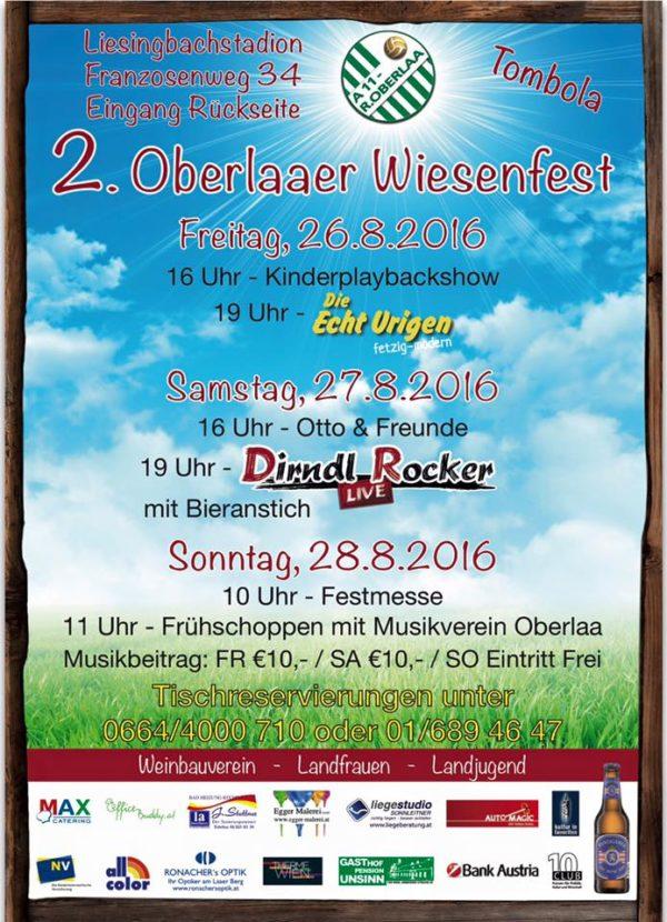"""Oberlaaer Wies´n mit den """"EchtUrigen"""" am Fr.26.8"""" 19h"""